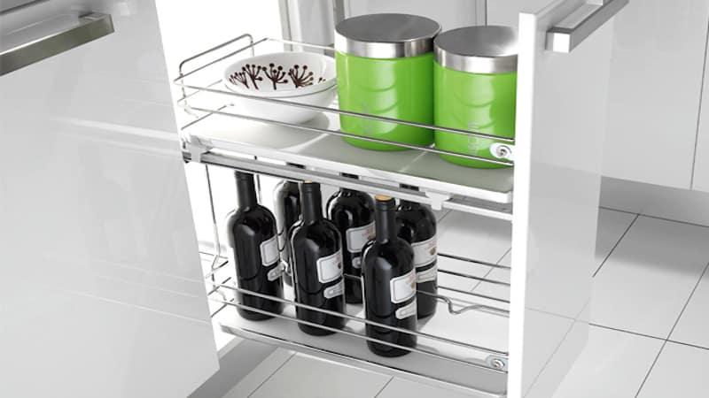 Выдвижные шкафы на колесиках для кухни